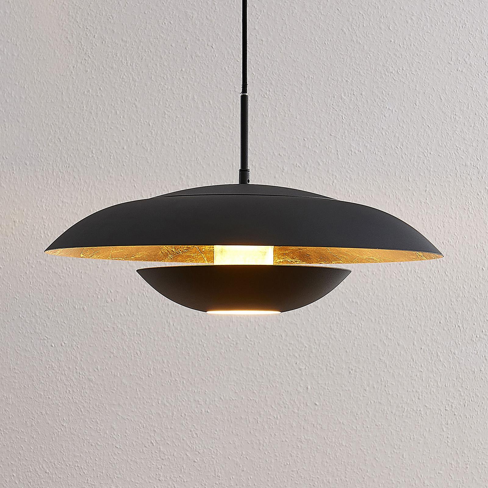 Lindby Sayra metallinen -riippuvalo, musta-kulta