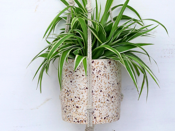 Terrazzo Hanging Plant Pot