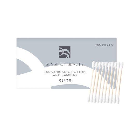 100% Organic Cotton And Bamboo Buds, 200 pcs Sense Of Beauty Ihonhoitolaitteet
