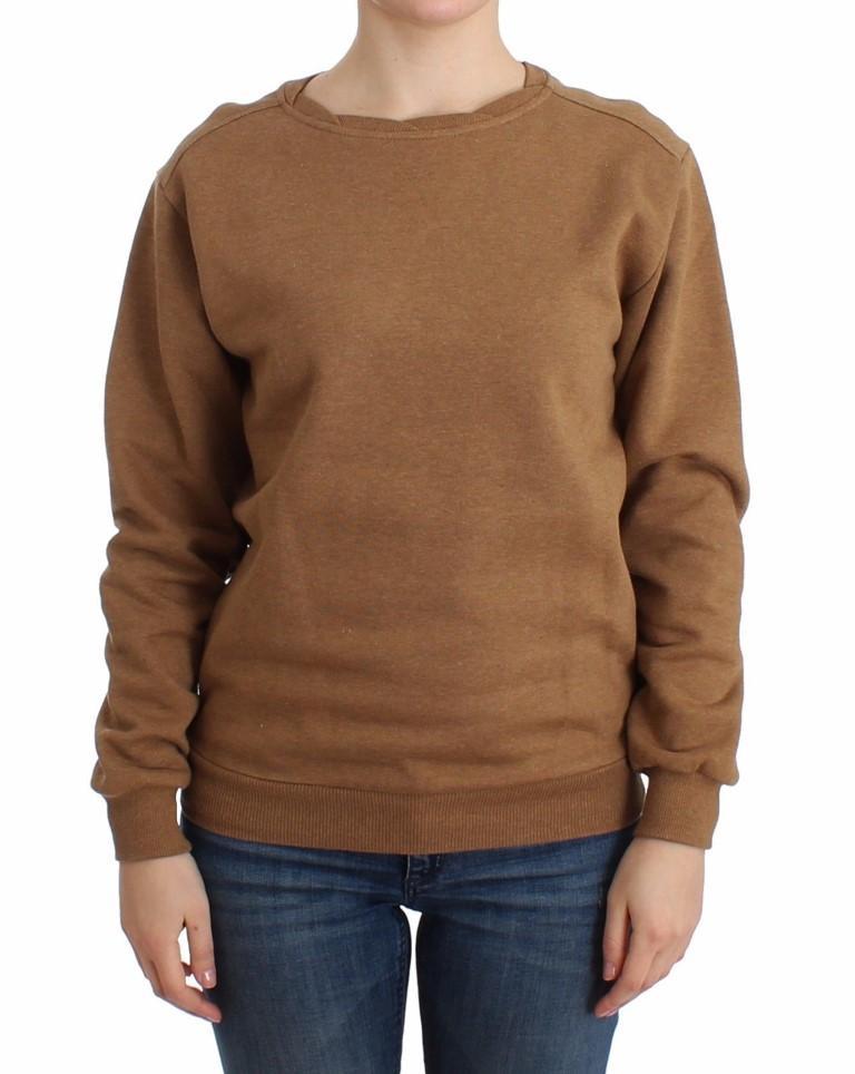 John Galliano Women's Crewneck Cotton Sweater Brown SIG12072 - XS