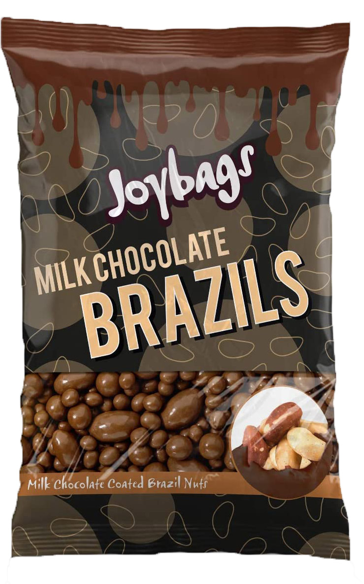 Joybags Milk Chocolate Brazils 150g