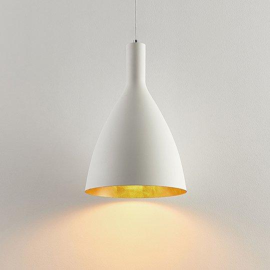 Arcchio Arthuria -riippuvalo, 1-lamp., valkoinen
