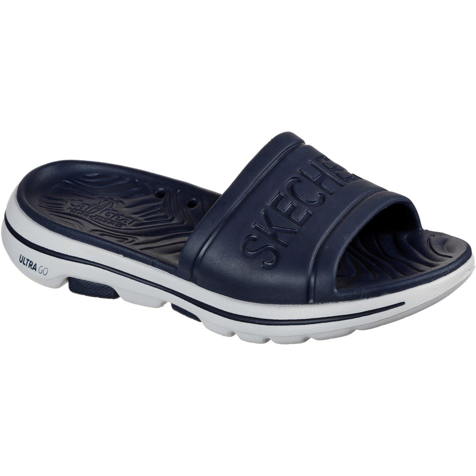 Skechers Men's Go Walk 5 Surfs Out Summer Sandal Various Colours 32207 - Navy 10