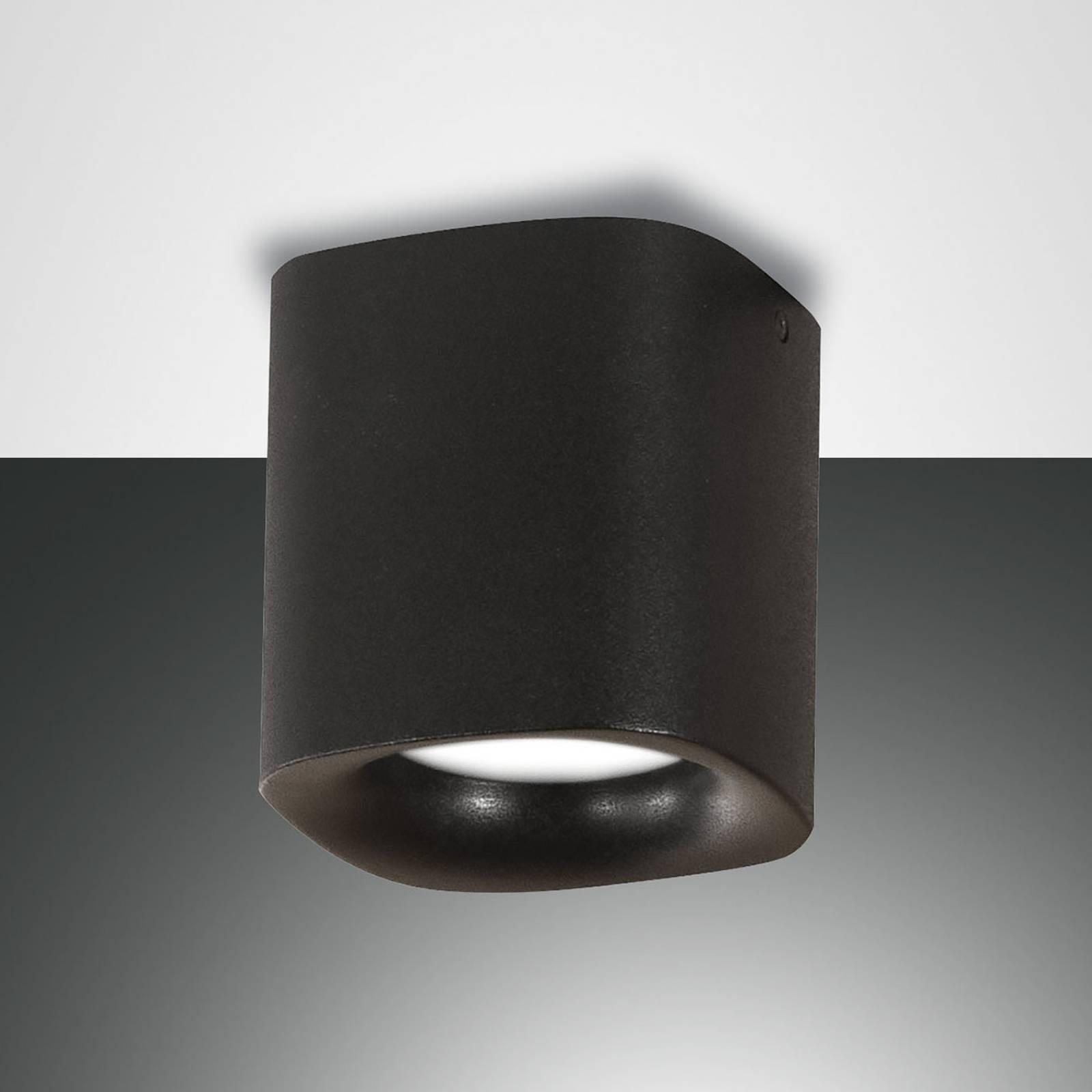 Kattovalaisin Smooth, 1-lamppuinen, musta, IP44
