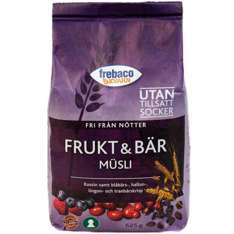 Müsli Frukt & Bär 625g - 16% rabatt