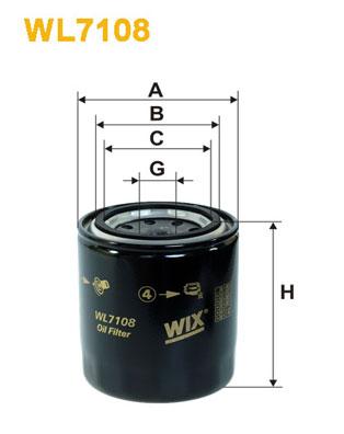 Öljynsuodatin WIX FILTERS WL7108
