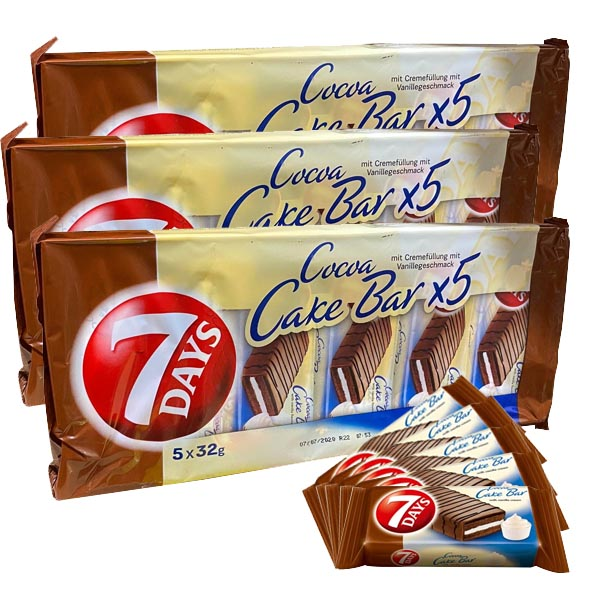 Cocoa Cake Bar 7 days - 5-pack x 3 st