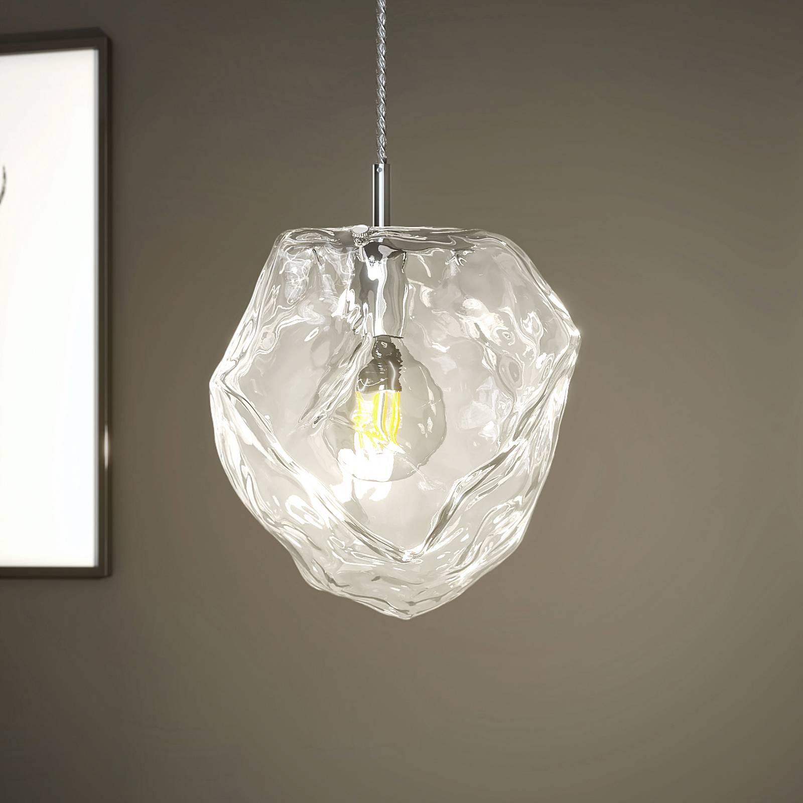 Lucande Valina -riippuvalo lasia, 1-lamppuinen