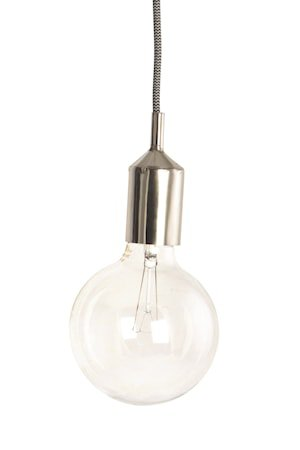 Lamphylse E27 Ø 4,5x11 cm - Sølv