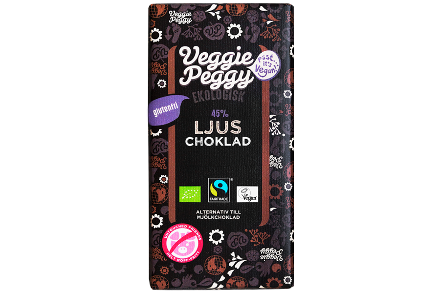 Veggie Peggy Ljus Choklad 85g