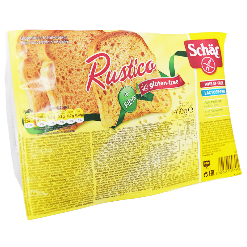 Leipä Rustika Gluteeniton 450 g - 40% alennus