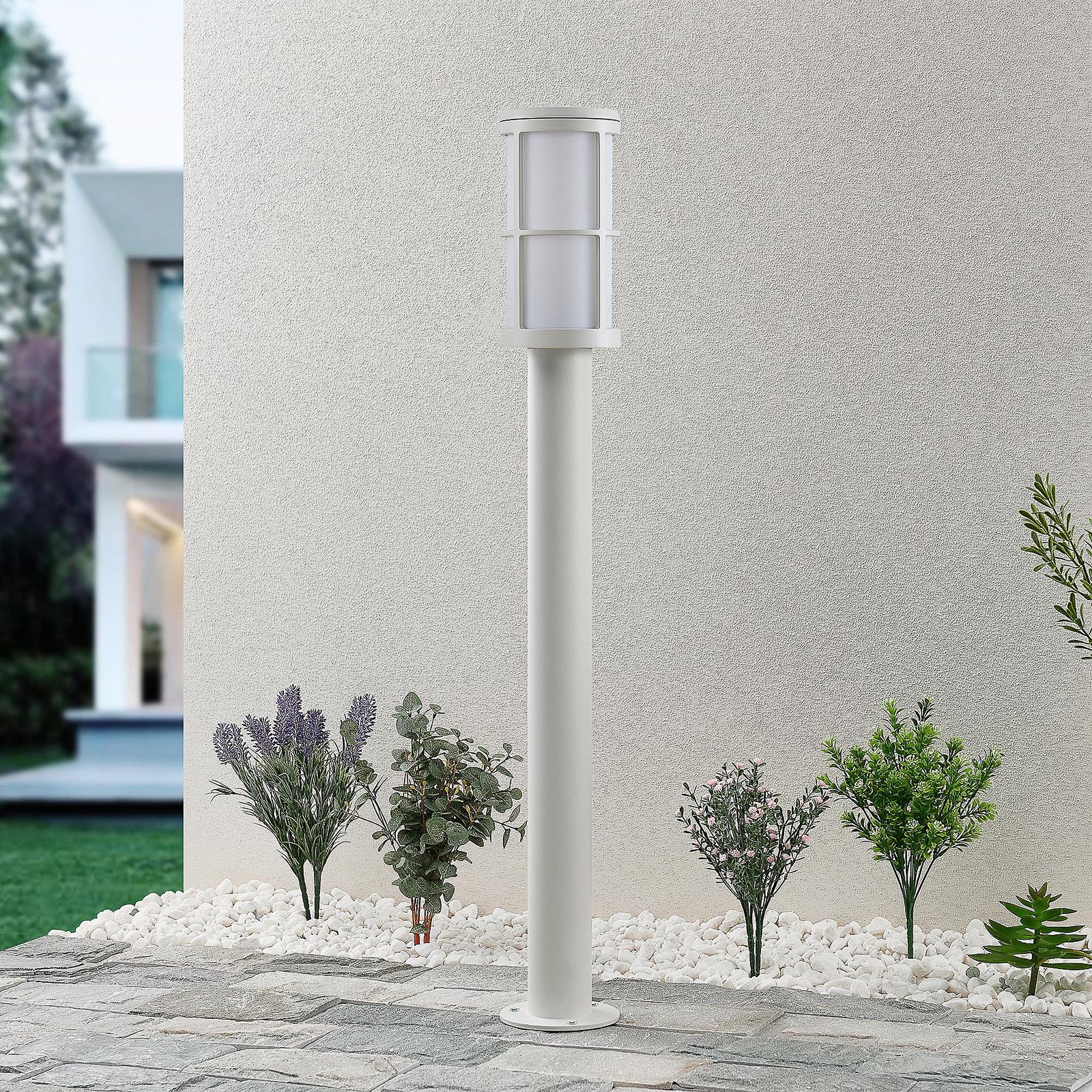 Lucande Kelini -pylväsvalaisin, 90 cm, valkoinen