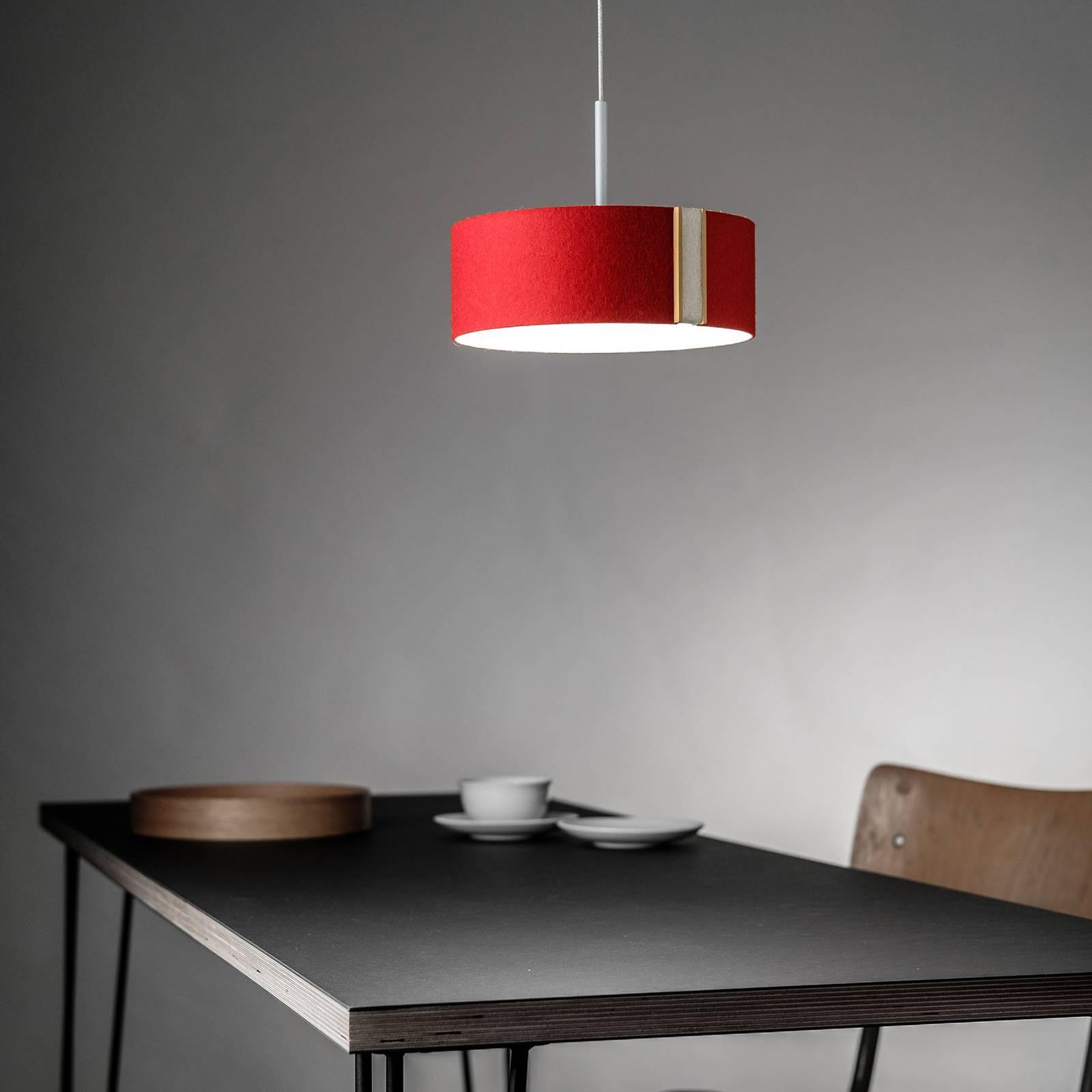 LED-riippuvalaisin LARAfelt S, 20cm punainen/villa