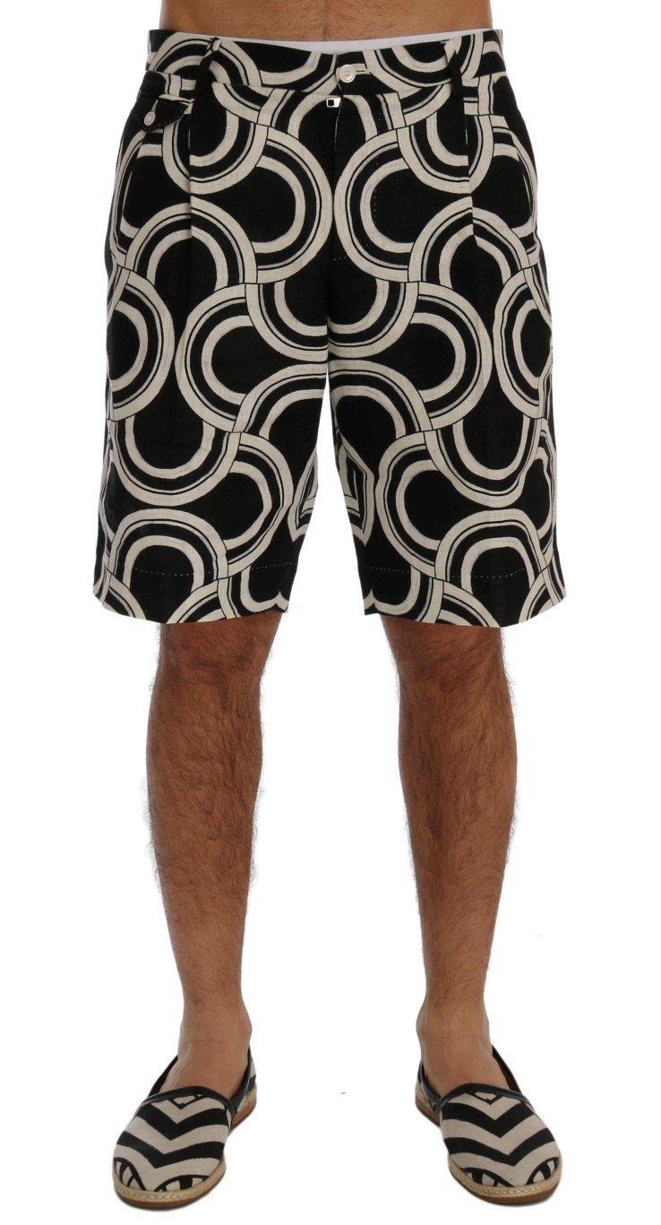 Dolce & Gabbana Men's Pattern Linen Shorts Multicolor SIG60406 - IT44 | XS