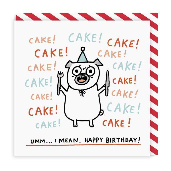 Cake! Cake! Cake! Square Birthday Greeting Card