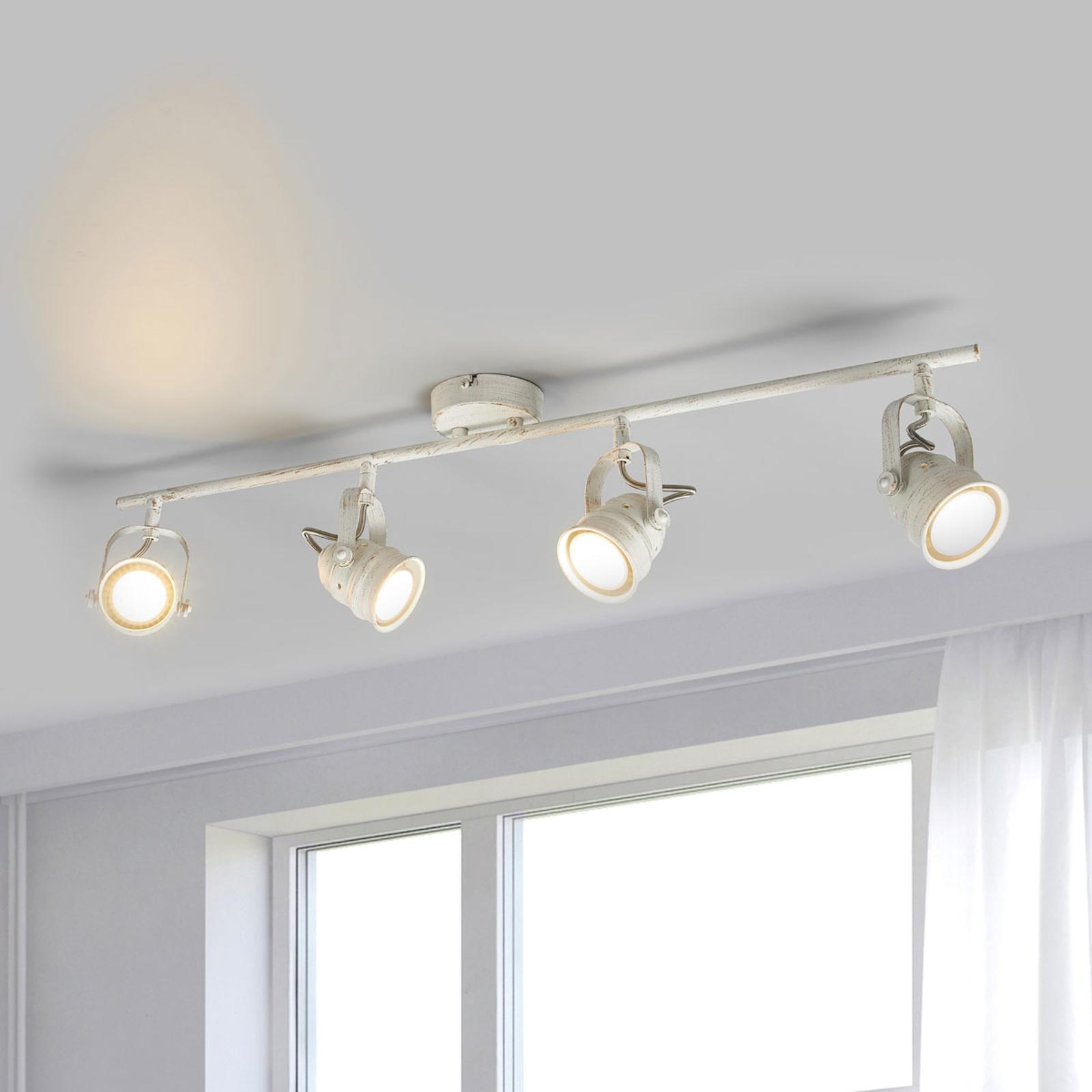 Valkoinen LED-katovalaisin Leonor, GU10