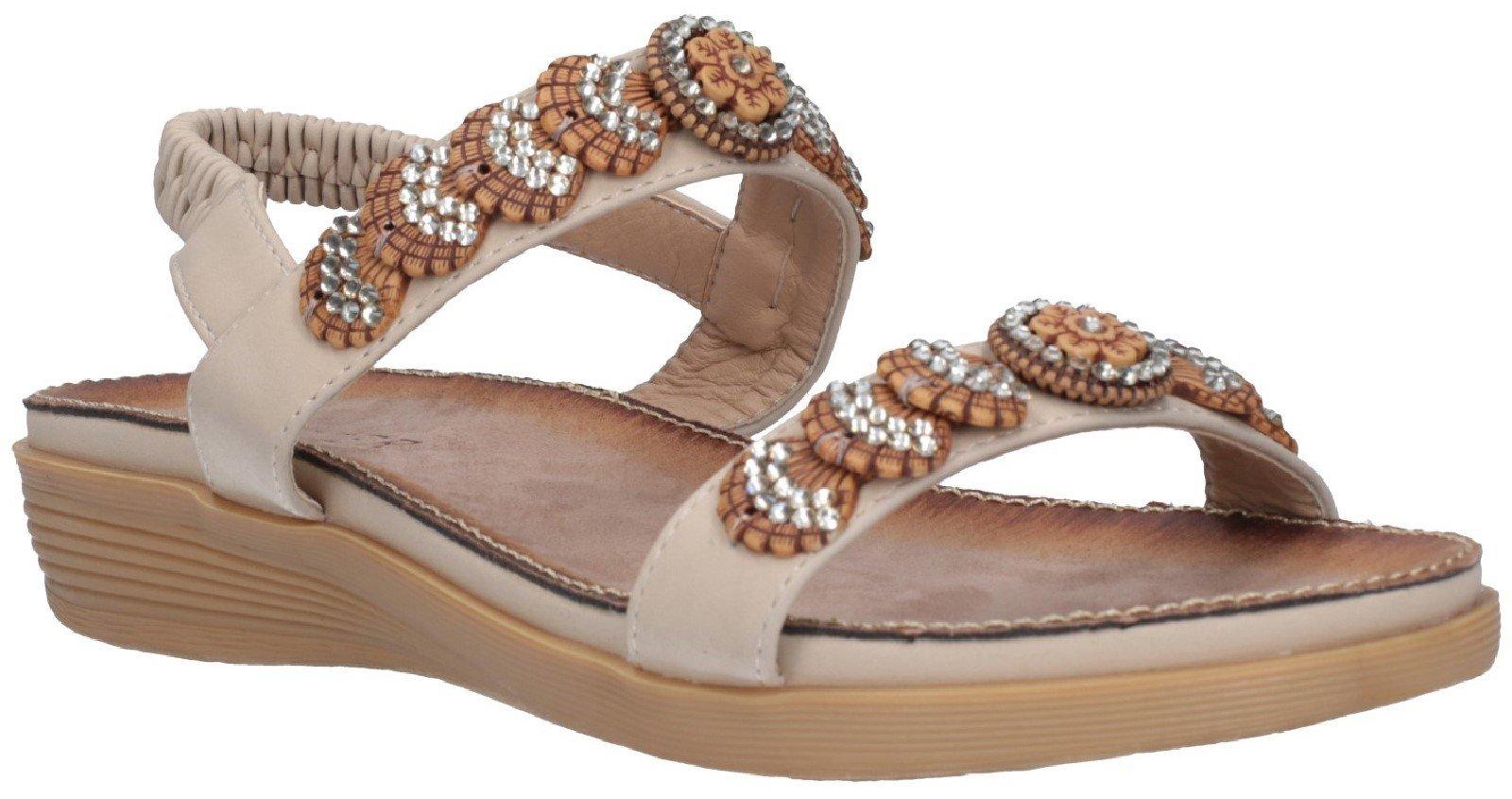 Fleet & Foster Women's Java Elasticated Sandal Various Colours 28280 - Beige 3