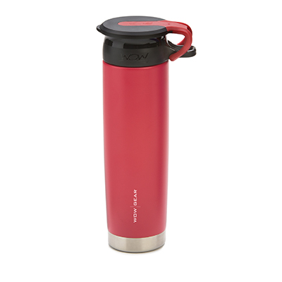 WOW - Double-Walled SS Bottle 650 ml - Red/Black