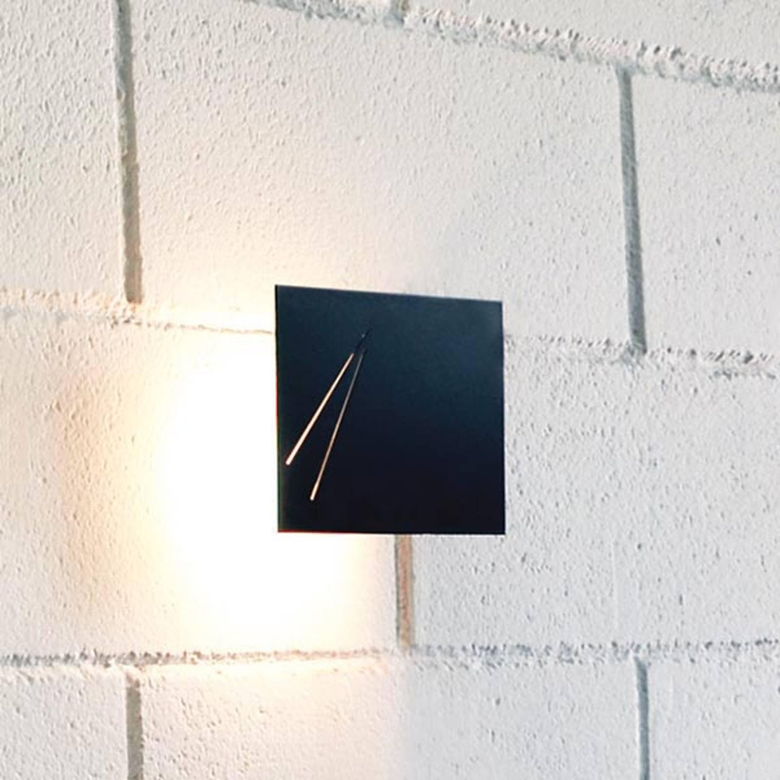 Knikerboker Des.agn - designer-vegglampe, svart