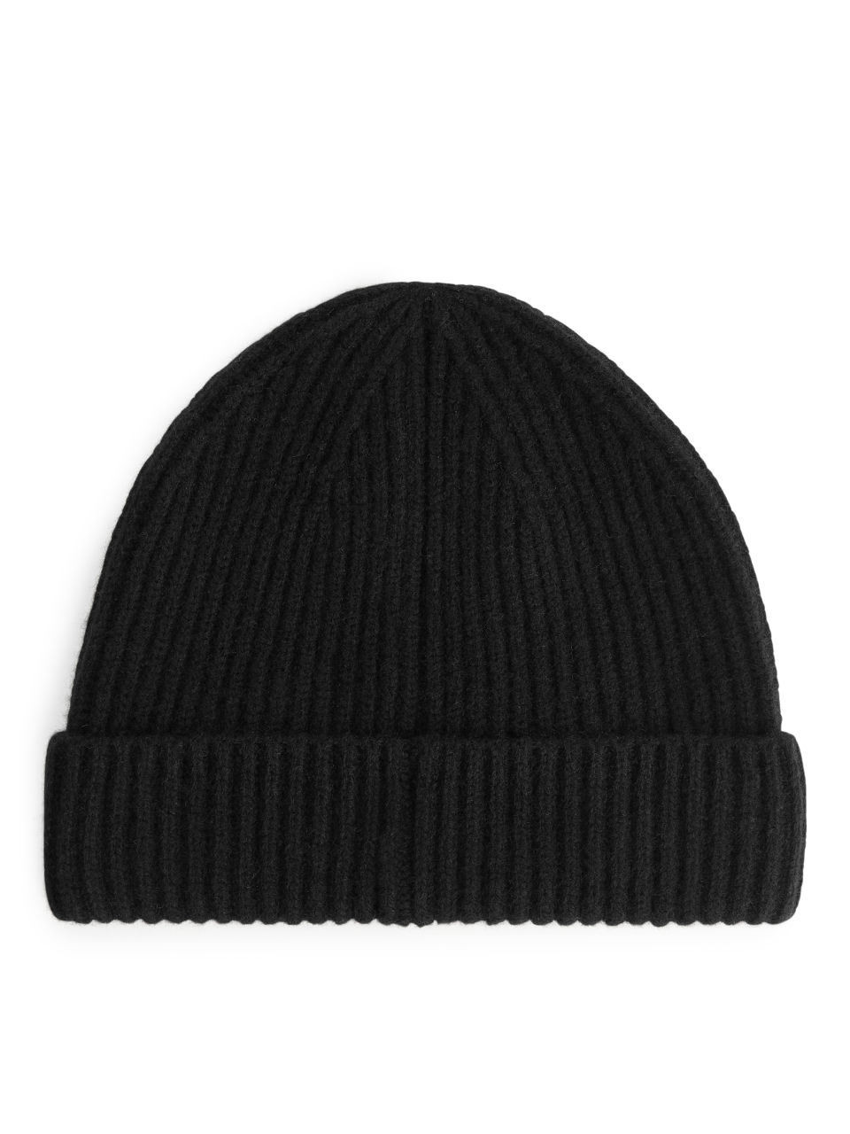 Cashmere Blend Beanie - Black