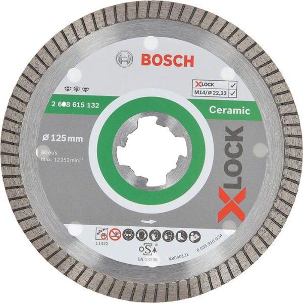 Bosch Best for Ceramic Extra Clean Diamantkappskive X-LOCK 115 × 22,23 × 1,4 × 7 mm