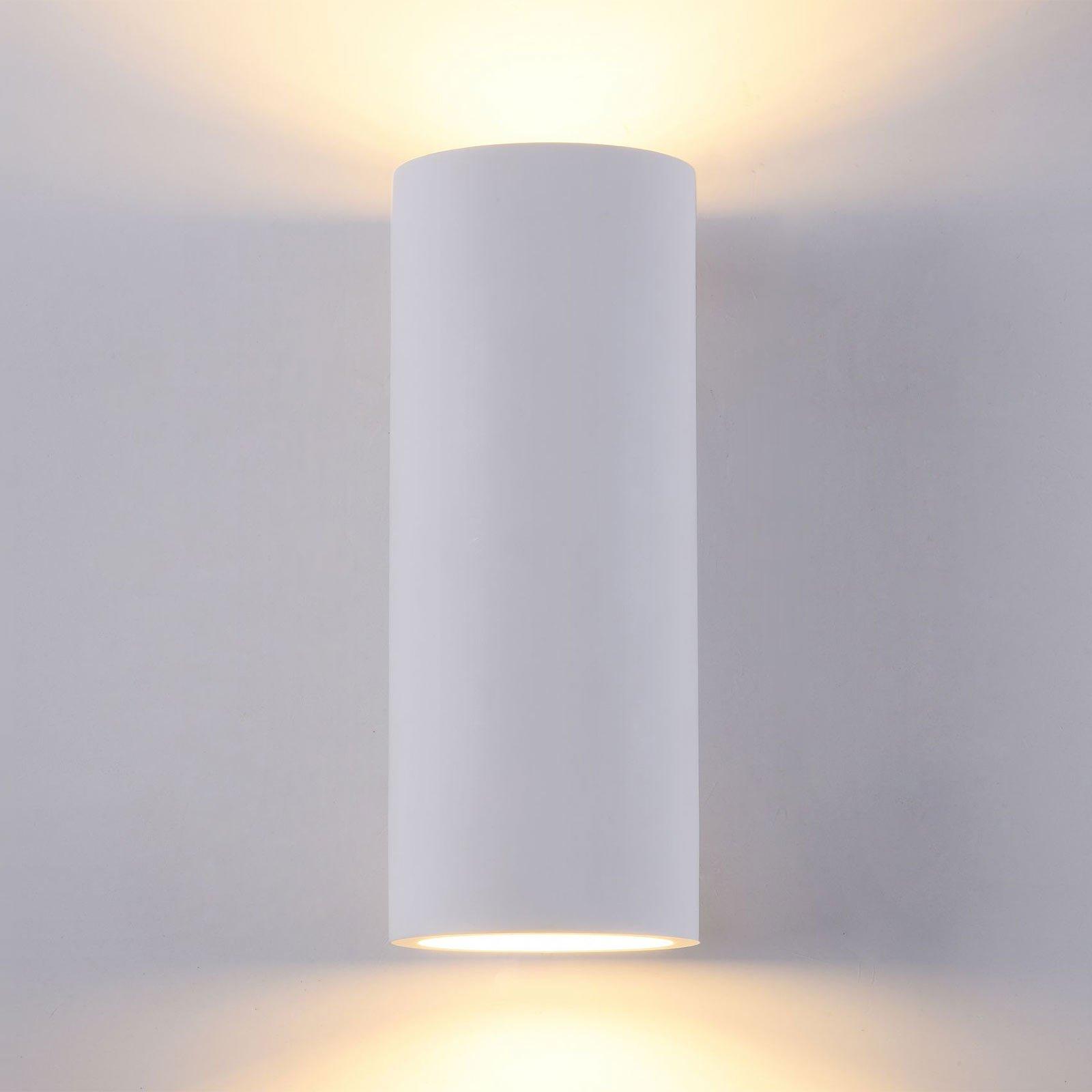 Parma vegglampe av gips, 8x20 cm