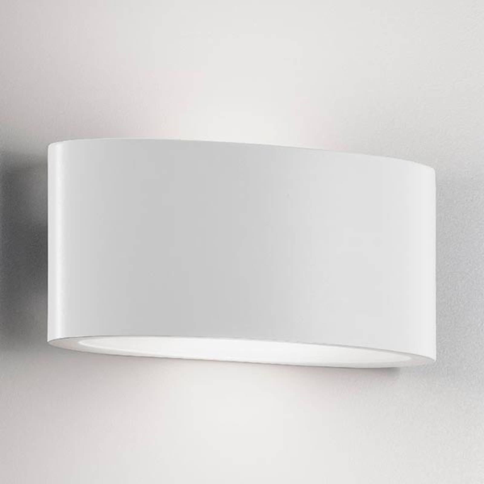 LED-ulkoseinälamppu Ovalino, valkoinen