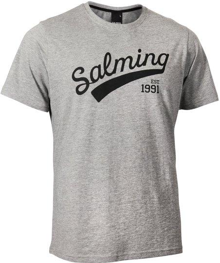 Salming Logo Tee JR T-skjorte, Grey 128