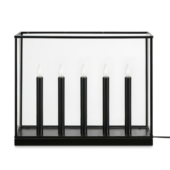 Kynttelikkö Imagine, viisilamppuinen, musta