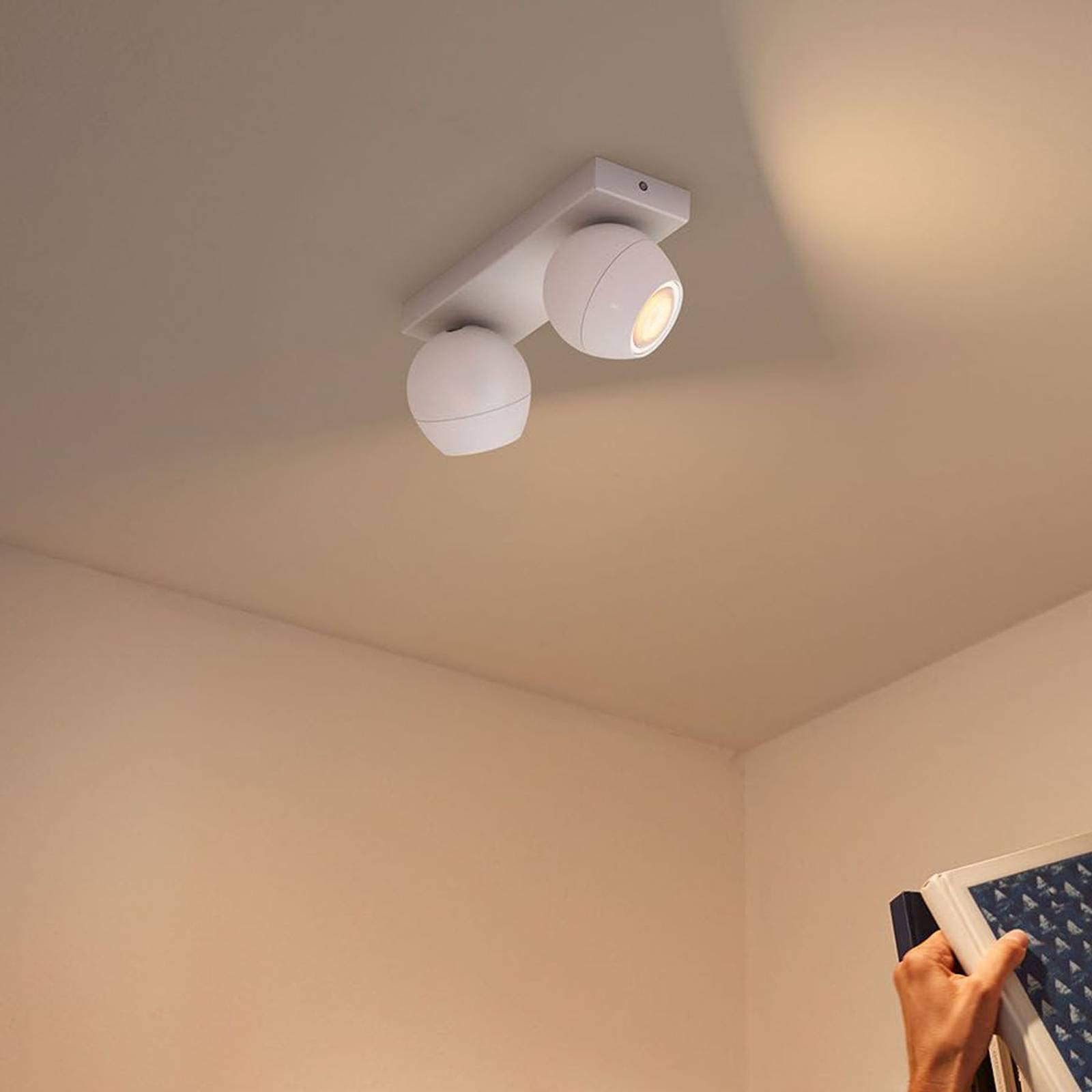 Philips Hue Buckram 2 lyskilder dimmebryter hvit