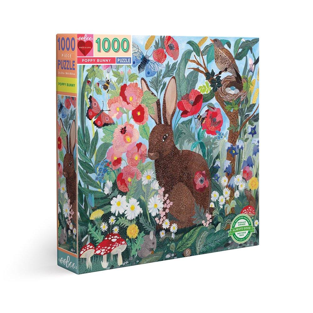 eeBoo - Puzzle 1000 pcs - Poppy Bunny (EPZTPBY)