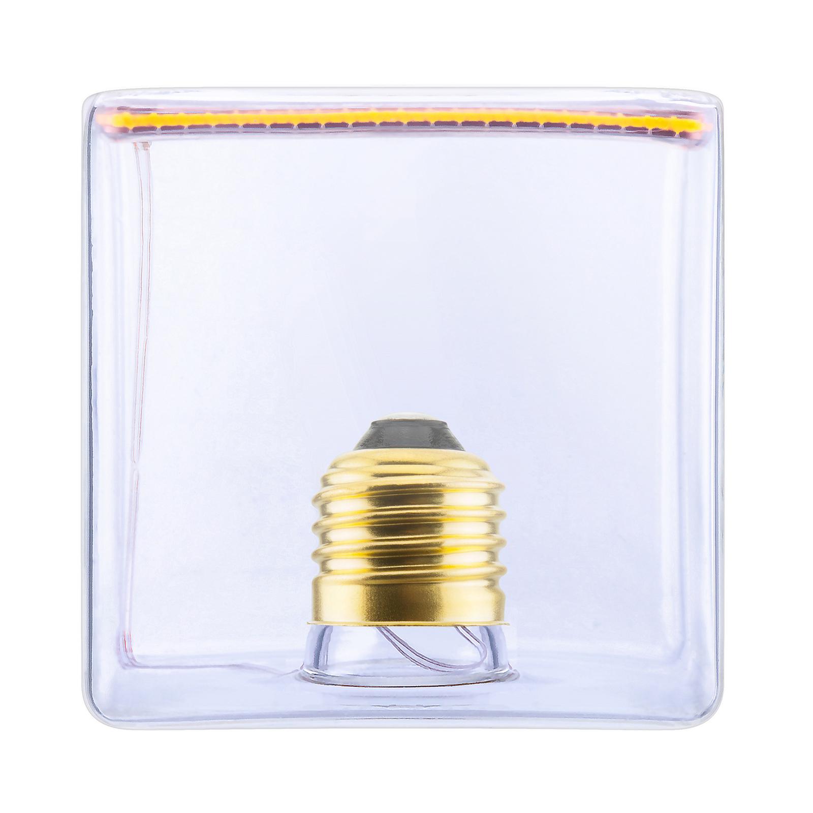 SEGULA LED-Floating-Cube 86 E27 8W kirkas inside