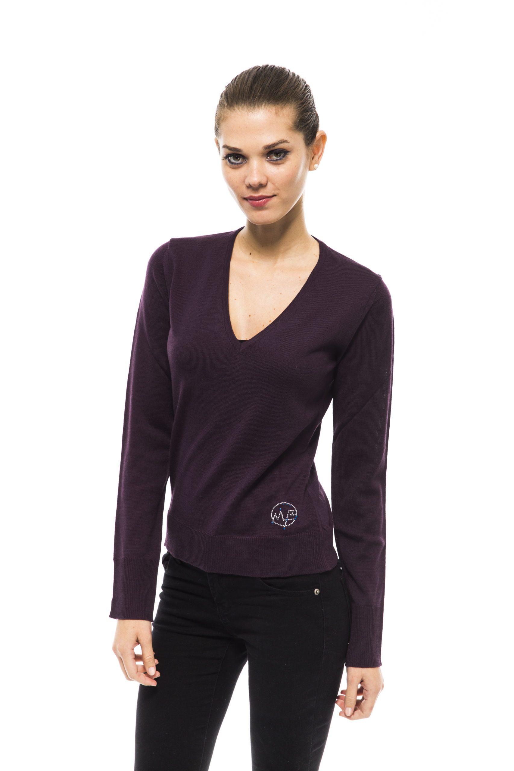 Montana Blu Women's Prugna Sweater Violet MO1191427 - IT40 | XS