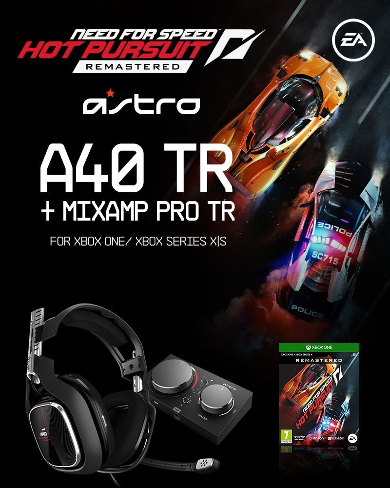 Astro - A40 TR + MA Pro TR XB1 Gen 4 & Need for Speed Hot Pursuit Remaster XB1 - Bundle