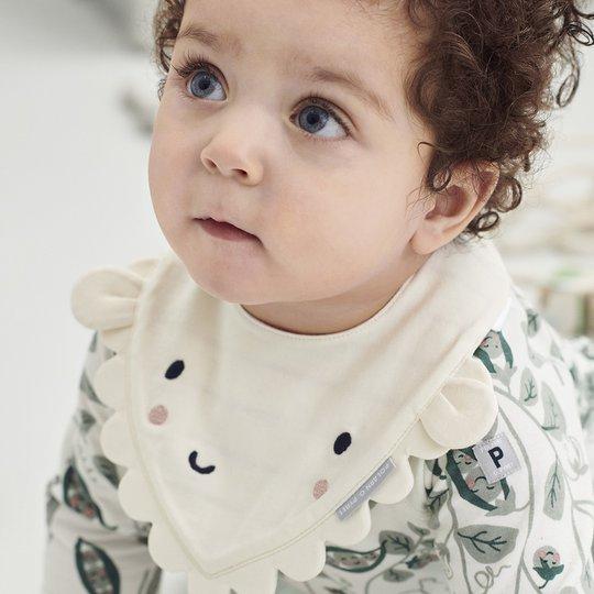 Vendbar smekke baby off-white