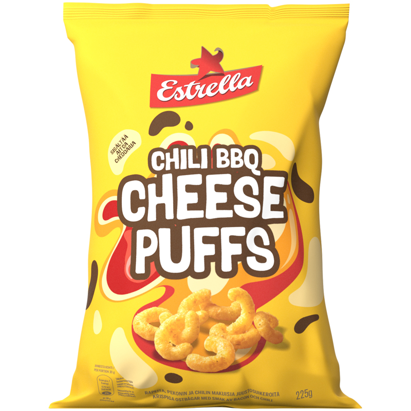 Chili BBQ Cheese Puffs - 24% alennus