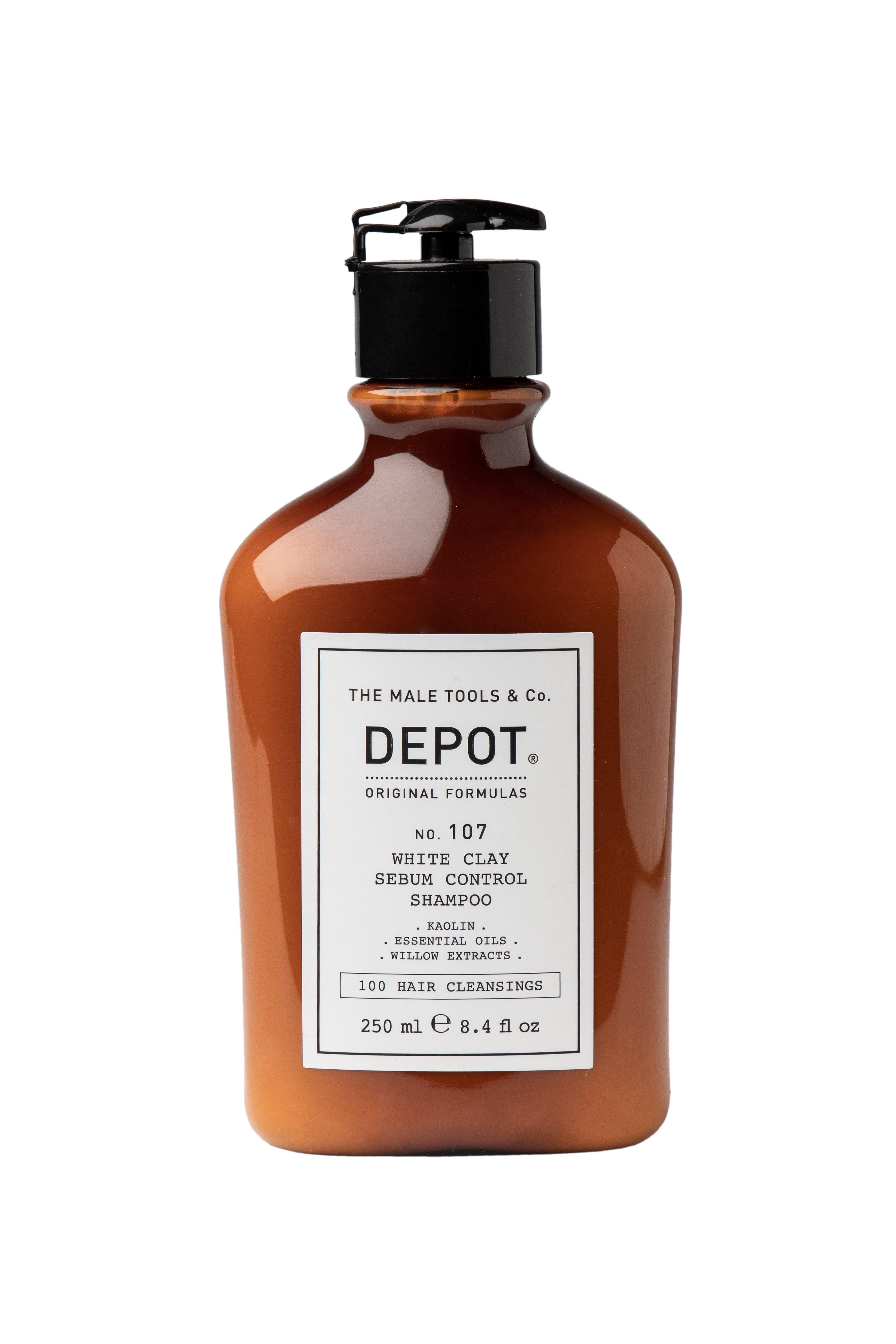 Depot - No. 107 White Clay Sebum Control Shampoo - 250 ml