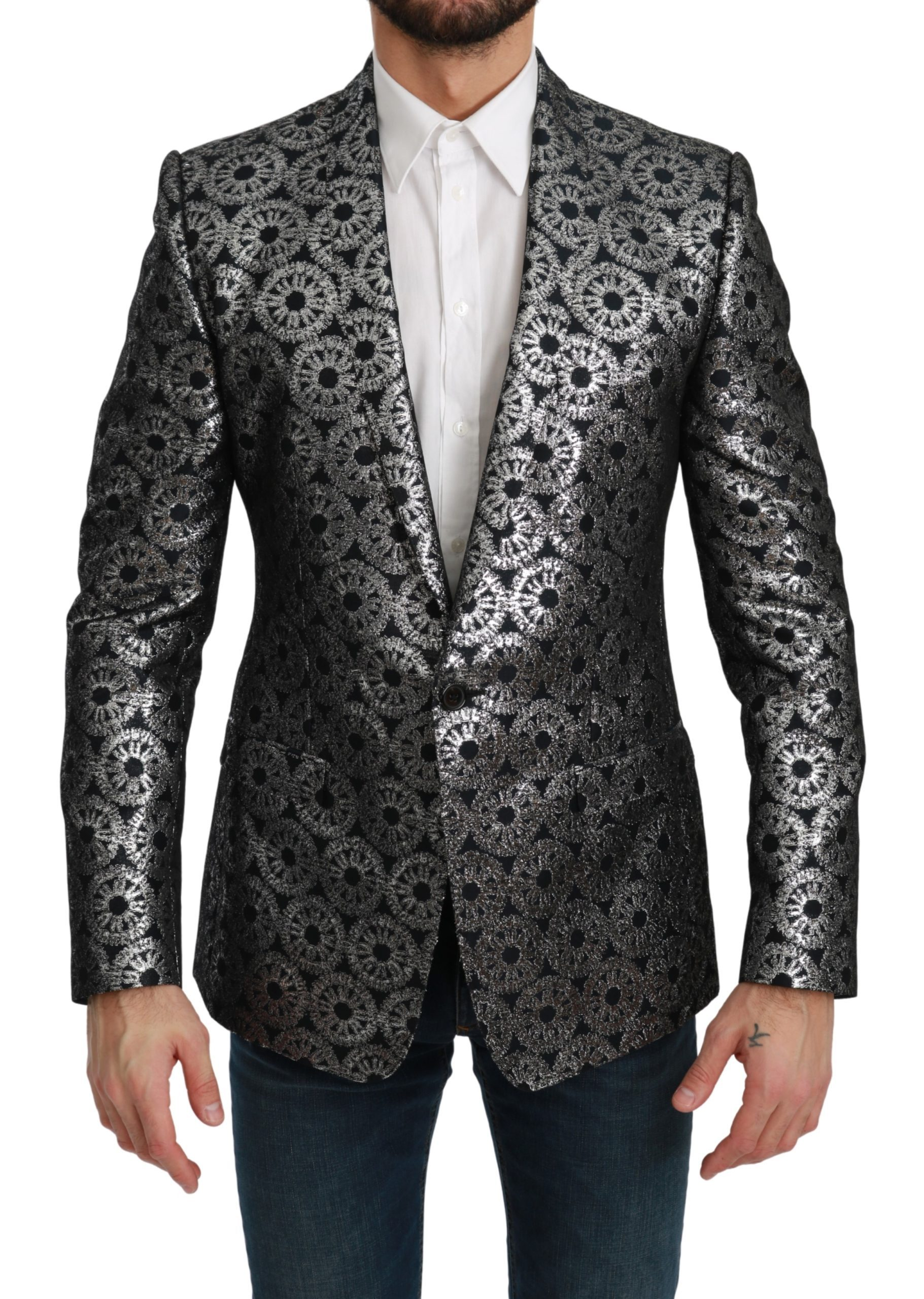 Dolce & Gabbana Men's Metallic Blazer Blue KOS1793 - IT48 | M
