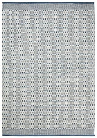 Mahi Matta Ull Off White/Blå 200x300 cm