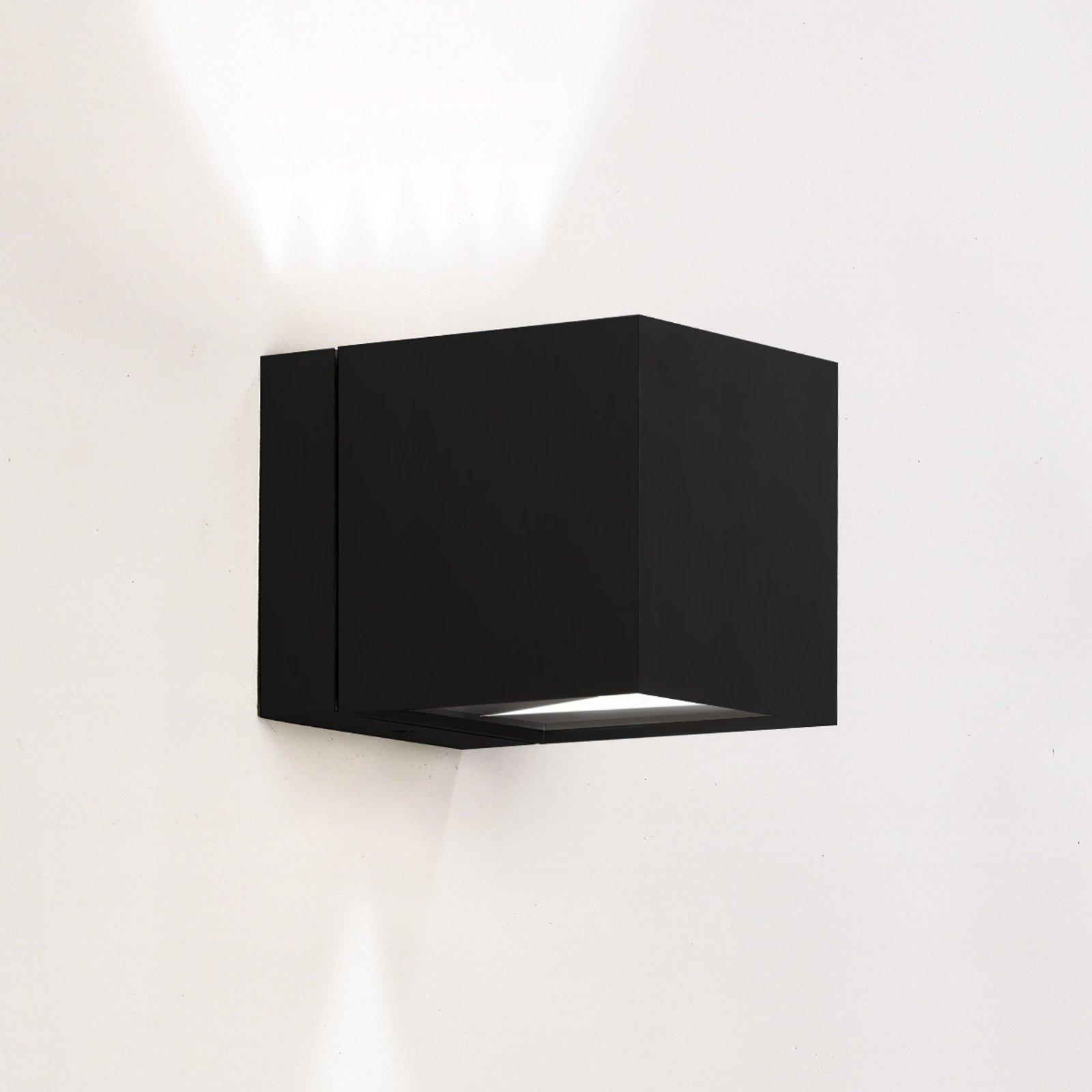 Vegglampe Dau med terningform up- downlight svart