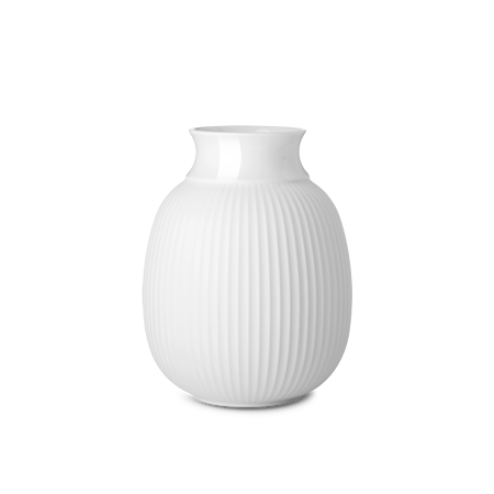 Curve Vase Porselen Hvit 17,5cm
