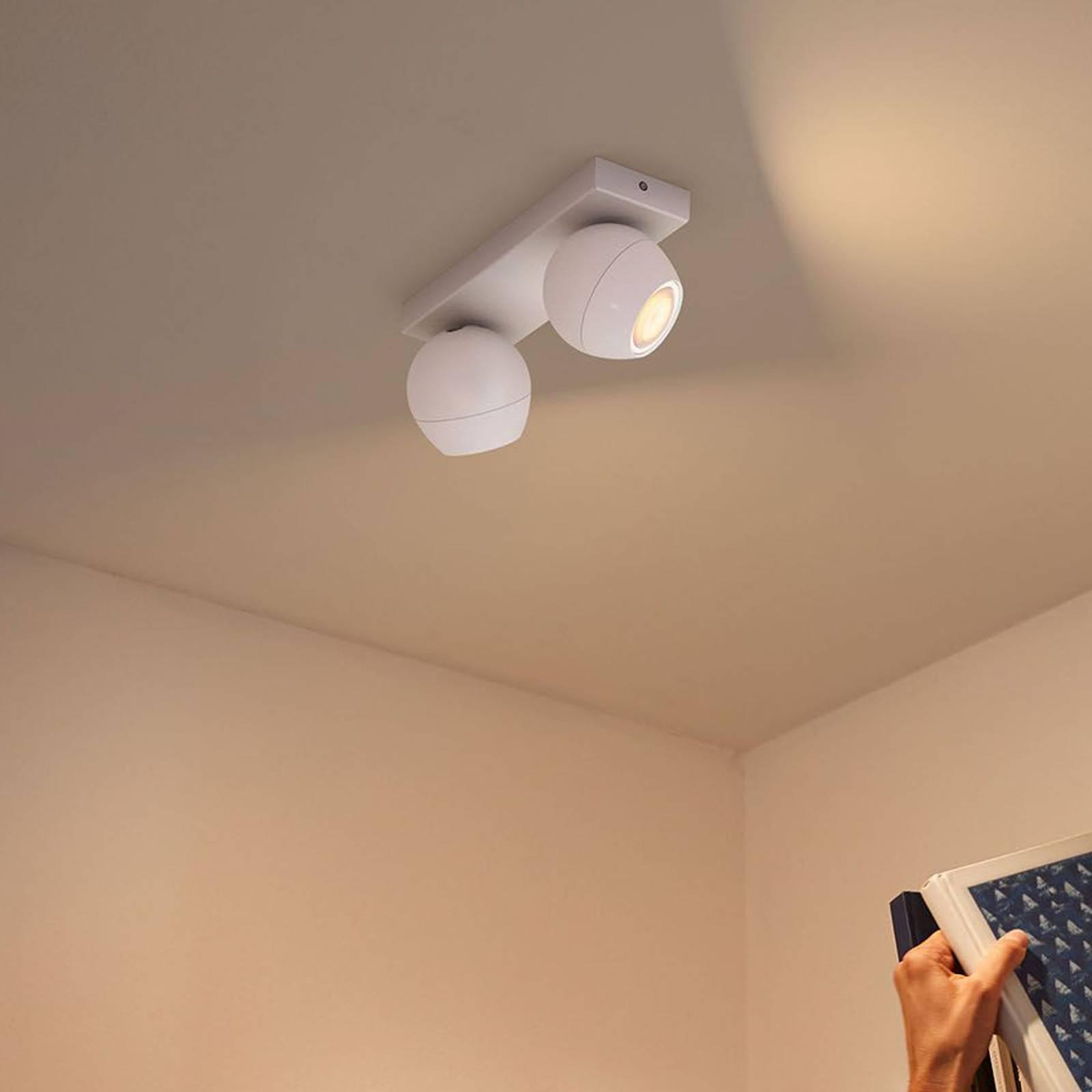 Philips Hue Buckram 2-lamppuinen valkoinen