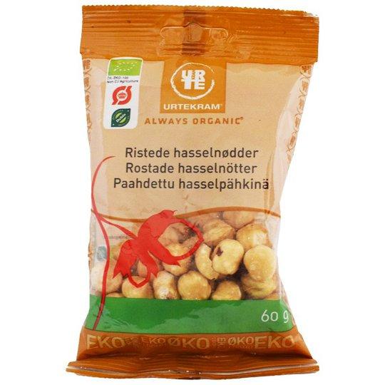 Luomu Paahdetut Hasselpähkinät 60g - 46% alennus