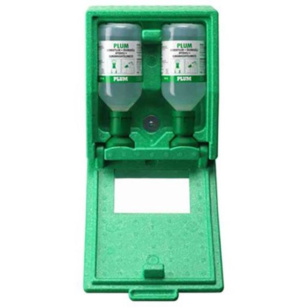 Plum 4650 Silmähuuhdeasema sis. 2x500 ml silmähuuhdetta