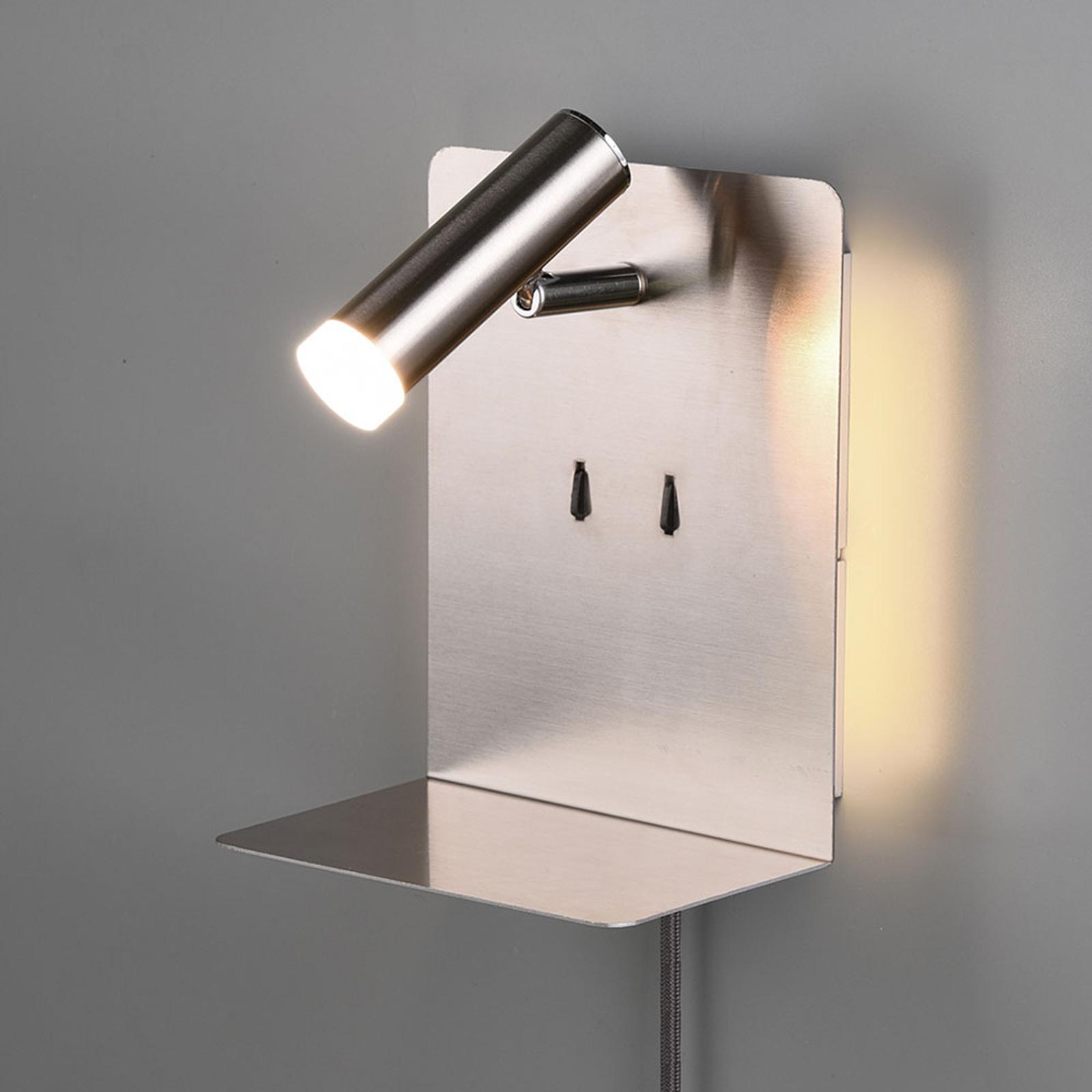LED-seinävalaisin Element, mattanikkeli