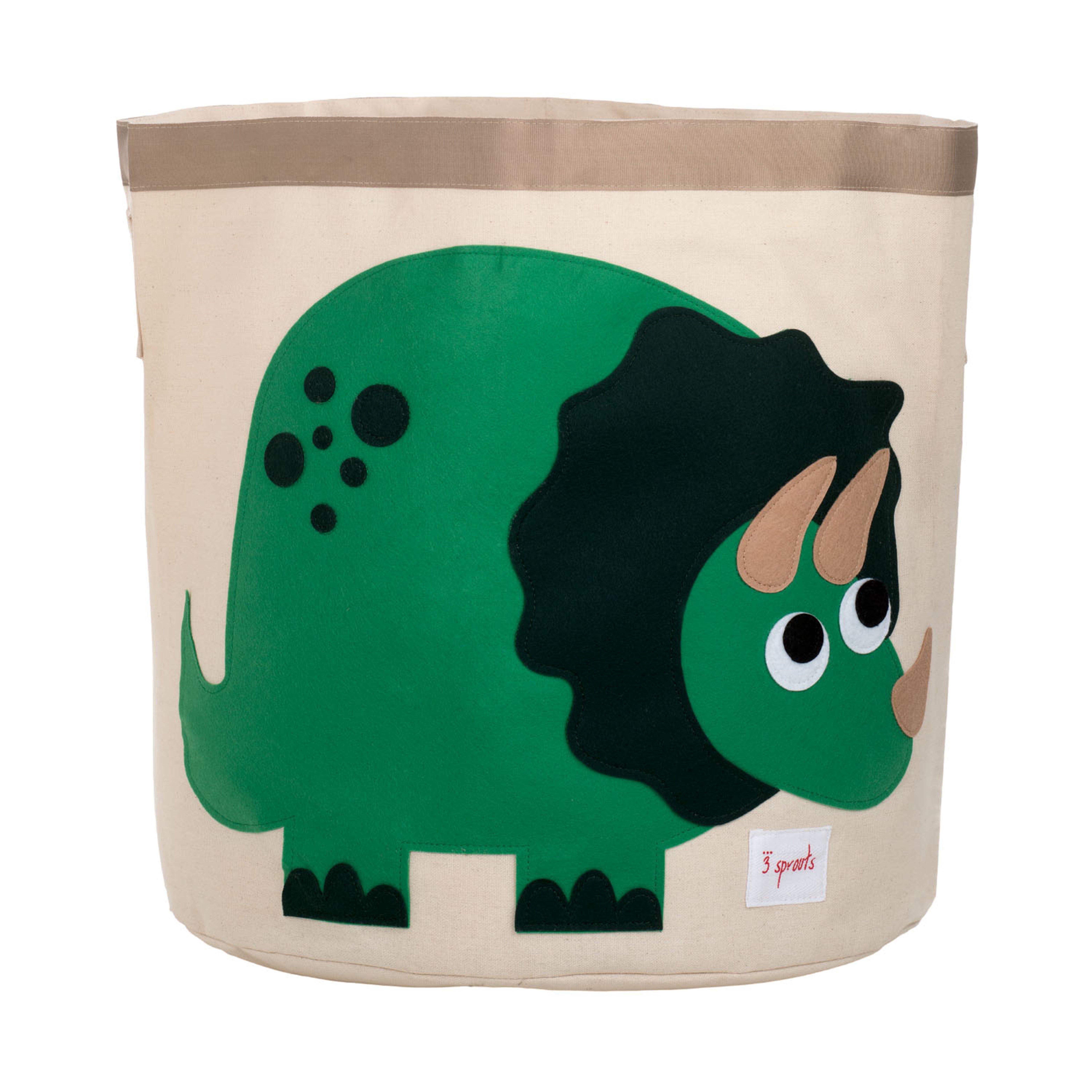 3 Sprouts - Storage Bin - Green Dino