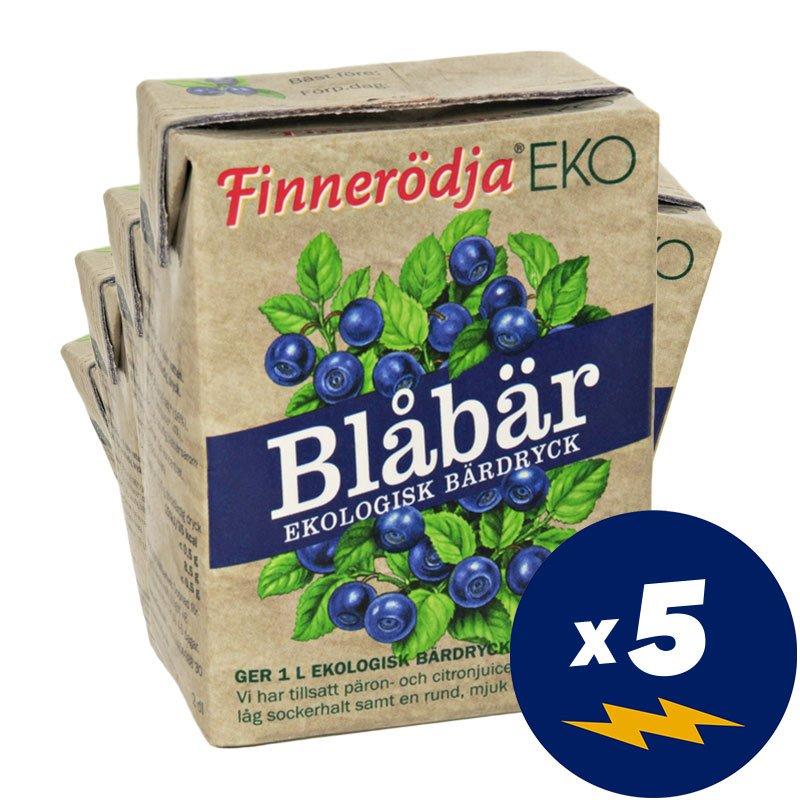 Eko Bärdryck Blåbär 5-pack - 50% rabatt