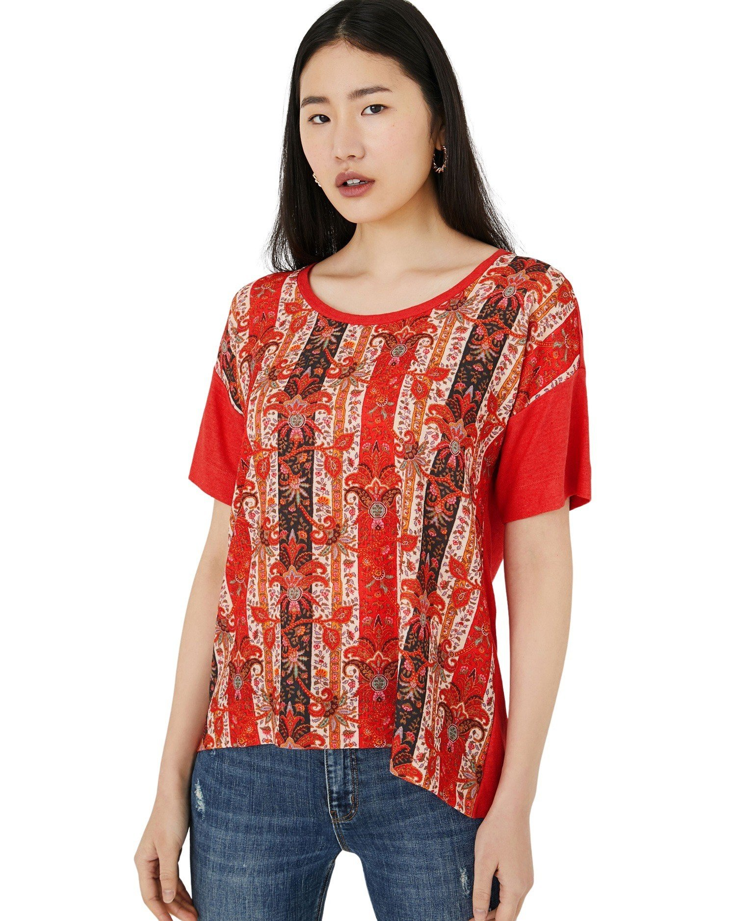 Desigual Women's T-Shirt Various Colours 252717 - red XL