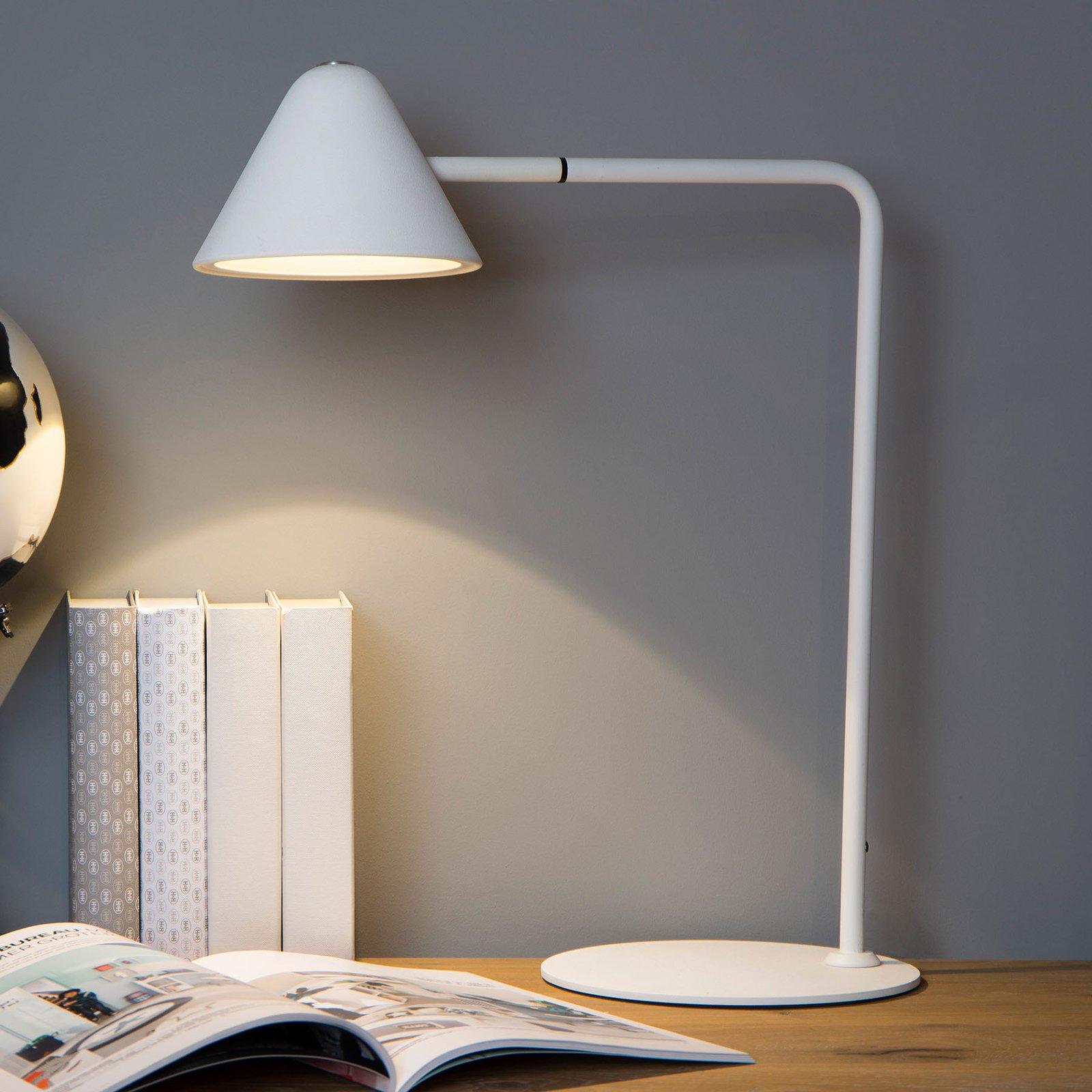 Devon LED-skrivebordslampe, hvit