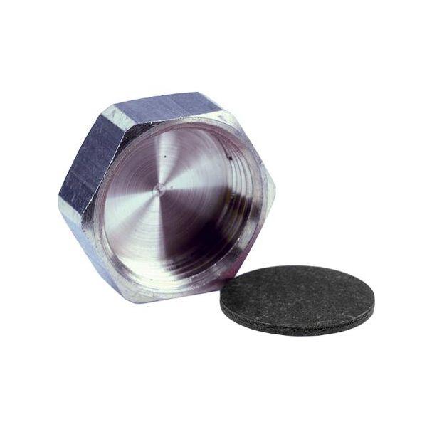 Ezze 3006105022 Kansi metalli ja tiiviste, sisäkierre G10, nikkelipinnoitettu